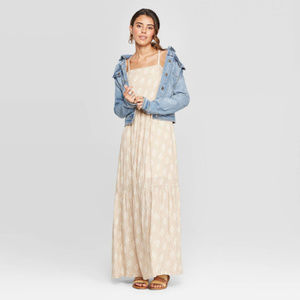 Sleeveless Square Neck Tiered Maxi Dress